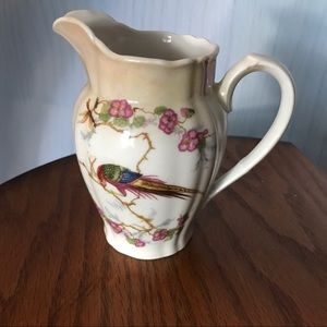 Vintage small pitcher w/ pheasant -stamped Germany